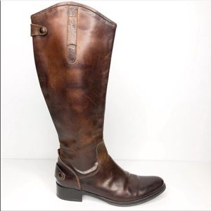 Vera Wang Lavender Label Brown Leather Riding Boot